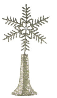 a beaded snowflake tree topper