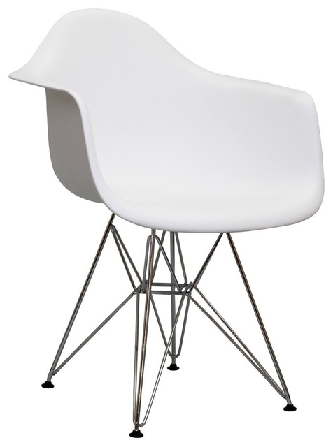 Paris Wire Armchair in White modern-dining-chairs