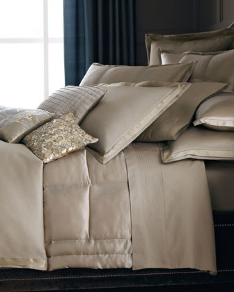 Donna Karan Home Modern Classics Quilted Standard/Queen Sham traditional-pillowcases-and-shams