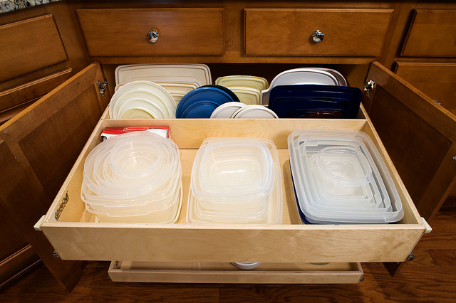 Kitchen Pull Out Shelves with Dividers - Kitchen Drawer Organizers - other metro - by ShelfGenie ...