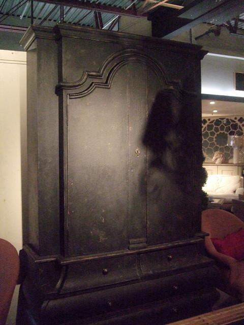 Noir Cabinet - Cornerstone Home Interiors eclectic