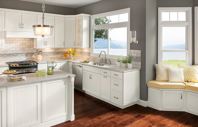 cottage white cabinets transitional kitchen dc metro