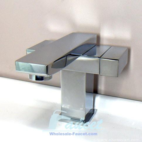 Square Design Chrome Basin Faucet Bathroom Mixer Tap modern-bathroom ...