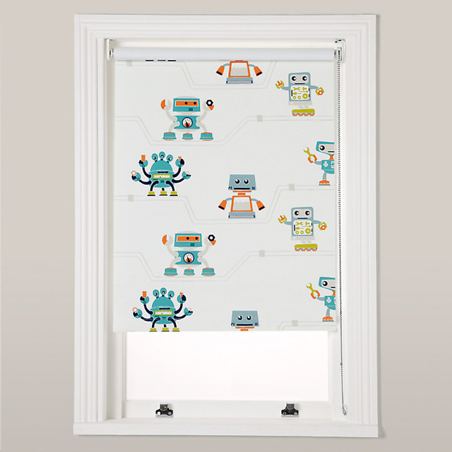 Robotica Robots And Pipes Blackout Roller Blind