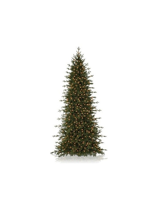 Balsam Hill Red Spruce Slim Artificial Christmas Tree - THE CONTEMPORARY CHARM OF BALSAM HILL'S RED SPRUCE SLIM CHRISTMAS TREE