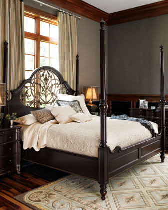 Iron Willow Queen Bed traditional-beds