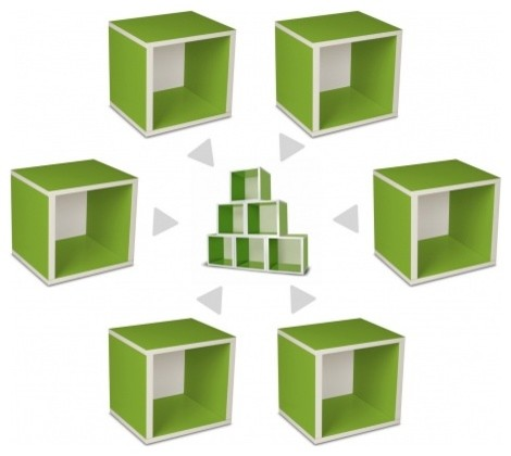 Modular Living Room Furniture on Way Basics Modular Storage Cubes  Green   Modern   Toy Storage   By