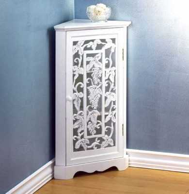 Grapevine Detail Corner Cabinet - Traditional - Side ...