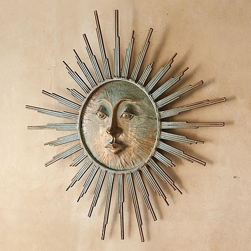 Radiant Sun Outdoor Wall Art Traditional Artwork By
