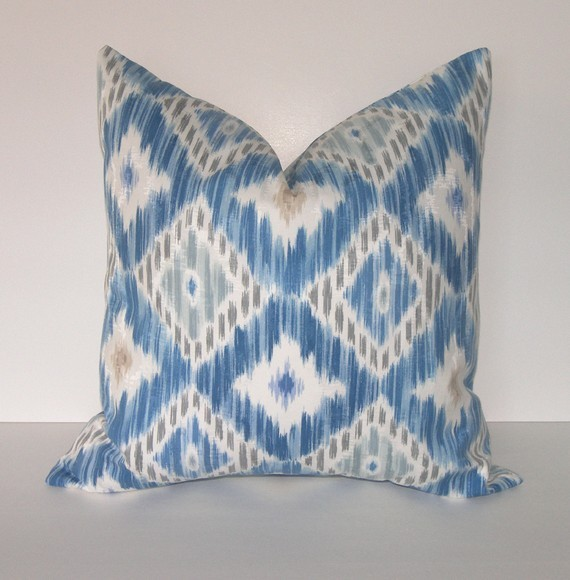 Decorative Designer Ikat Pillow Cover By Loubella1 eclectic pillows
