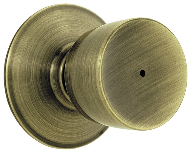 Bell Bed and Bath Knob in Antique Brass - F40 contemporary-cabinet-and-drawer-knobs