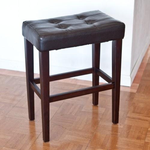 Palazzo 26 Inch Saddle Counter Stool - Brown contemporary-bar-stools-and-counter-stools