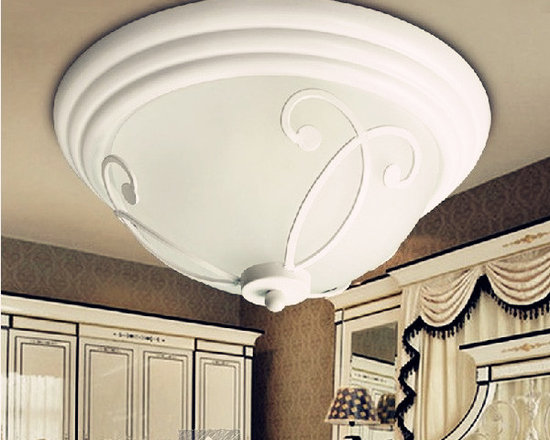 Fashion Simple Ceiling Lights Glass - Black and white for choose