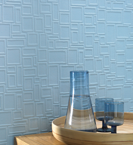 Graham & Brown - Paintable Squares Wallpaper modern wallpaper