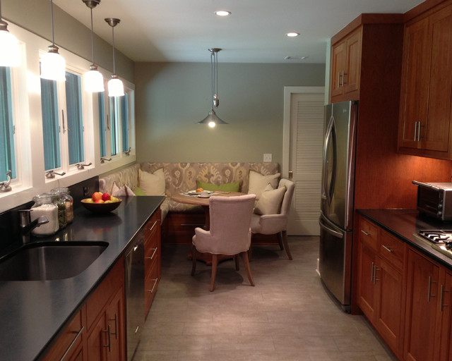 Spacious Galley Kitchen - Transitional - Kitchen - new ...