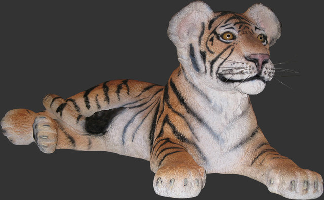 """Lying Down Life Size Statue, 14.75""""H"""