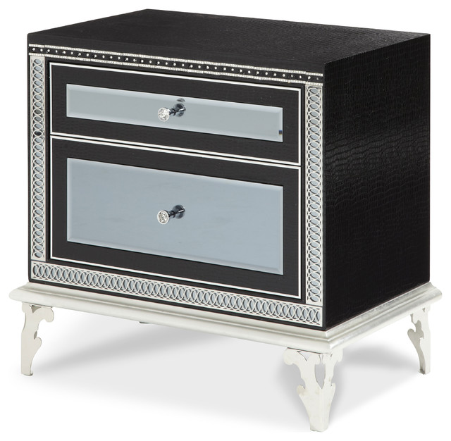 Hollywood Swank Starry Night Upholstered Nightstand contemporary-nightstands-and-bedside-tables
