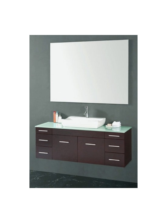 Wall Mounted Vanities - Despite the fact ornamenting styles can be completely different; there is one common feature that everyone likes in their home which is space. Let's think of the wall mounted vanity as the eventual space saver. Usually bathroom vanities are free standing vanities, and though lovely vanities are well worth it, you can't deny that they take up valuable square footage. Wall mounted vanities can proposal the user a gorgeous area of space to place supplies, work off of in the morning, or just sit there and be fresh, all the while offering floor space beneath the bathroom vanity. Wall mounted bathroom vanities are a favorable when it originates to a small bathroom.