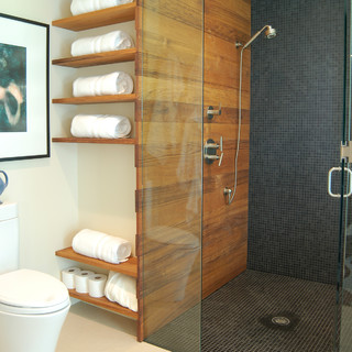 Ordinaire Bathroom Remodel Shower Ideas Mean More Choice In Materials Like Teak On  The Floor, Wall