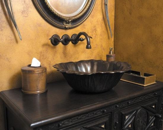 Bathroom sinks - Rocky Mountain Hardware Flora Sink handcrafted bronze.