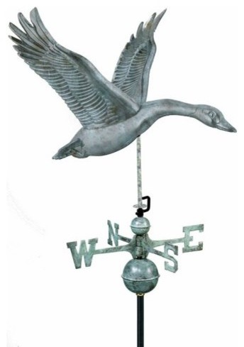 Good Directions Feathered Goose Weathervane - Blue Verde ...