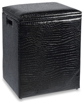 Black Croc Hamper - Contemporary - Hampers - by Bed Bath & Beyond