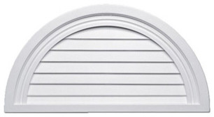 "Half-Round Louvers - 32""W traditional-windows"