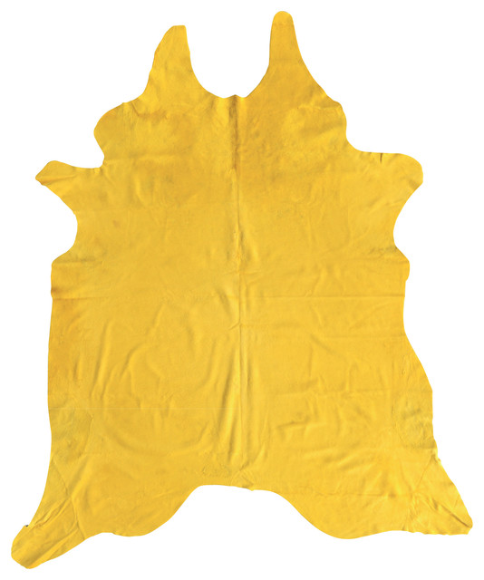 Cowhide Rug In Yellow Eclectic Rugs By Domayne Online