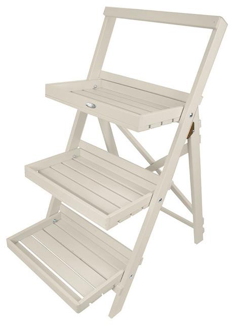 Step Ladder Plant Stand, White farmhouse-outdoor-planters