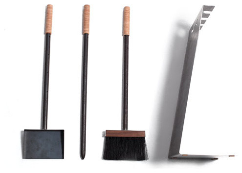 Modern Fireplace Tool Set Modern Fireplace Tools Other Metro By
