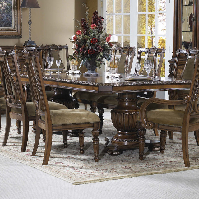 Double Pedestal Dining Room Table: Empire Double Pedestal Dining Table