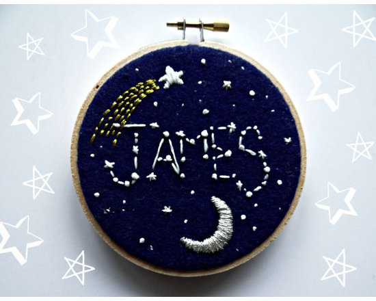 Custom Embroidered Constellation Art by The Monsters Lounge -