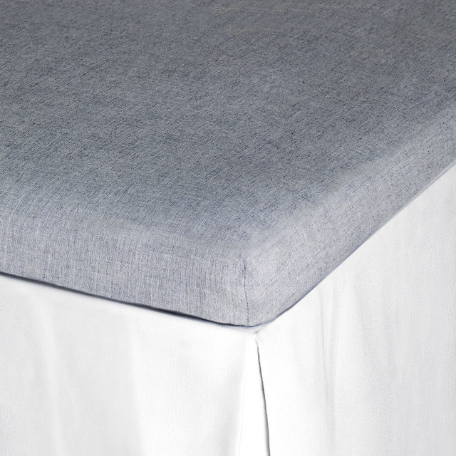 Fitted Sheet, Light Grey traditional-sheets