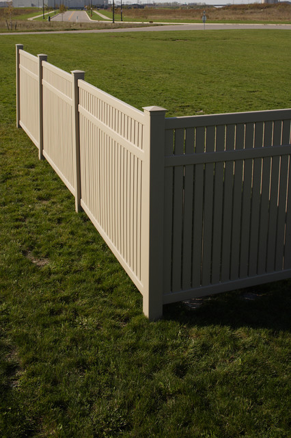 Bufftech imperial select cedar semi private vinyl fence