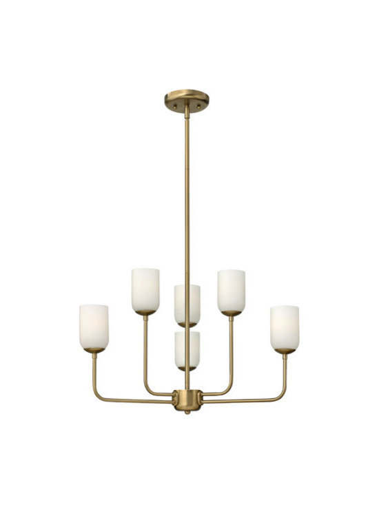Hinkley Lighting 4216BC 6 Light Chandelier Harlow Collection -