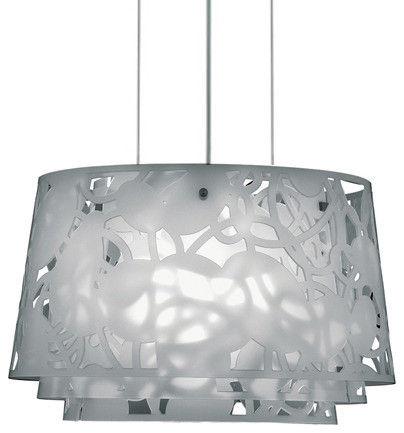 Campbell Collage 600 Pendant, White Collage, by Louis Poulsen modern-pendant-lighting