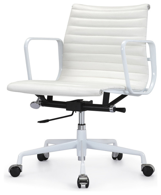 m341 eames style aluminum groupp office chair all white everything in