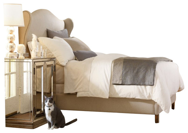 Hooker furniture sanctuary 3 piece bed bedroom set in for Transitional bedroom furniture