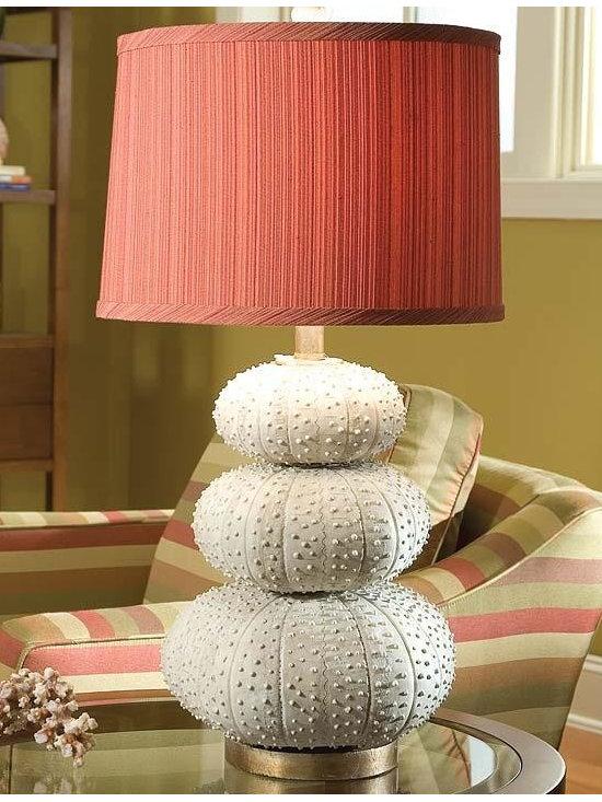 Regina Andrew - Regina Andrew Stacked Sea Urchin Table Lamp - Stacked sea urchin table lamp.