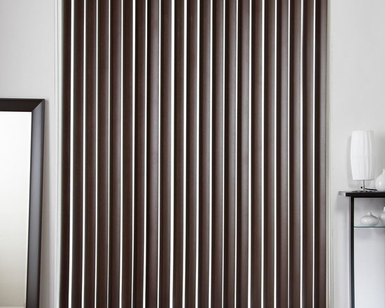 """3 1/2"""" Designer Faux Wood Vertical Blinds - These designer faux wood door blinds come in seven different colors and are an affordable option to cover your sliding glass door."""