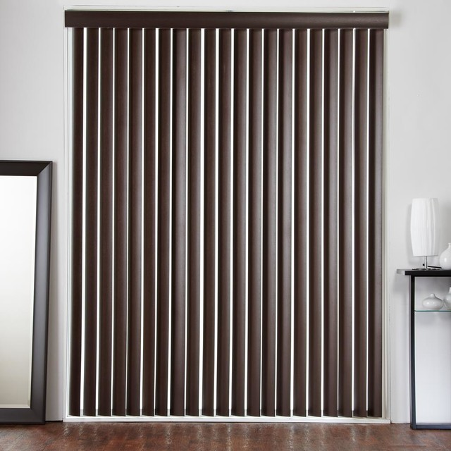 3 1 2 designer faux wood vertical blinds contemporary