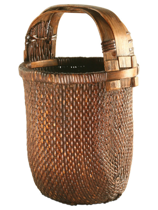 Vintage Willow Basket - The gorgeous 'Willow' basket is an example of craftsmanship at its finest. This one-of-a-kind vintage basket will add warmth and 'lived in' feel to any room. Use it to beautifully store blankets or any household items.
