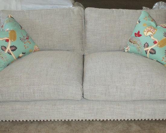 Customer Custom Orders - Robin Bruce Santana (2) Cushion Sofa (Down Wrapped Cushions). You Choose the Fabric.