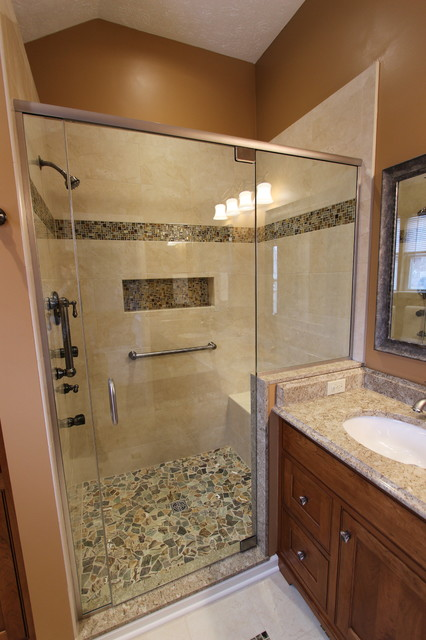 Master Bath Renovation Brunswick Oh 2 Traditional Bathroom Cleveland By Cabinet S Top