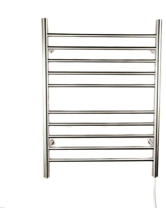 Amba - Radiant Plug In 23x31 Straight Electric Heated Towel Warmer, Polished Chrome - Easy Installation then plug in.