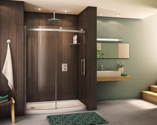 "Fleurco Novara Bowfront 57"" - 59"" Curved Door and Panel NOVBF60 - Easy rolling system enables the door to slide smoothly and effortlesly"