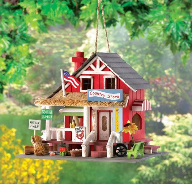 Charming Country Store Wooden Birdhouse Eclectic Birdhouses By American Home Decorating