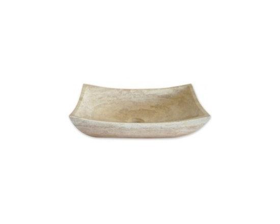 Asian Style Bathroom - Eden Bath EB_S011BT-P Stone Vessel Deep Zen Travertine Sink in Beige