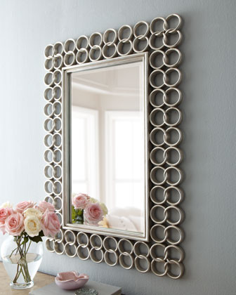 Silver Chain-Link Mirror traditional-mirrors