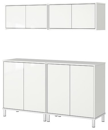 EFFEKTIV Storage combination with cabinets modern bookcases cabinets and computer armoires
